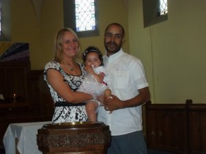 Our daughter's baptism with Emma & Marcus Thompson