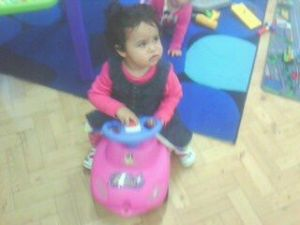 Scarlett playing at playgroup
