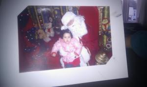 Scarlett visiting Santa at his Grotto