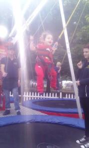 Scarlett on trampoline