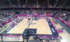 Great seats at the London 2012 Olympic Basketball Arena