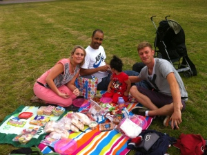 Us having our picnic at Victoria Park